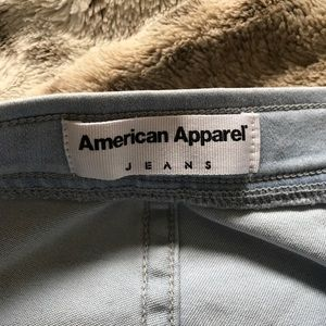 American apparel high wasted light wash jeans